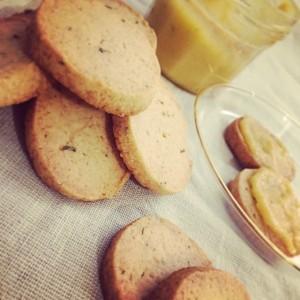 Rozemarijn koekjes met limecurd
